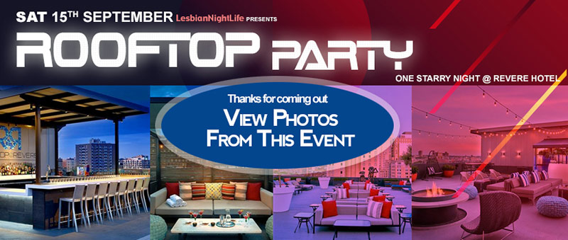 One Night Only, Rooftop at the Revere. Saturday Sept 15 2018